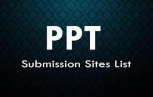 PPT submission sites list 2019